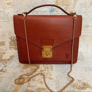 Authentic Louis Vuitton Epi Monceau Handbag